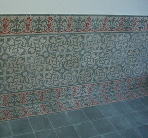 Favorite Encaustic Cement Tile Wainscot Designs