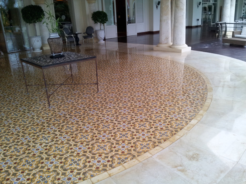 Sosua Cement Tile Creates Luxury Lounge for Hotel Property
