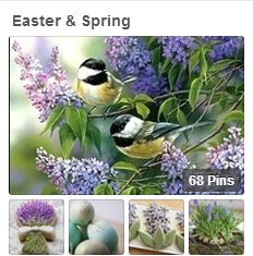 Easter & Spring pinboard