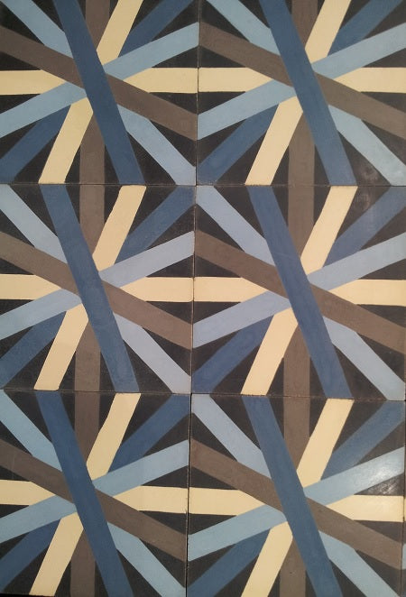Asterisk is a new, contemporary cement tile pattern from Avente Tile