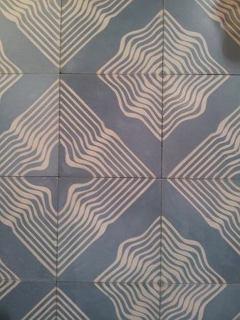 Wave is a new cement tile pattern by Tania Marmolejo