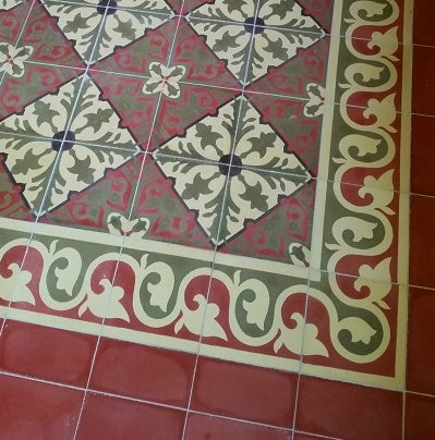 The beauty of cement tile is in the variation and slight imperfections