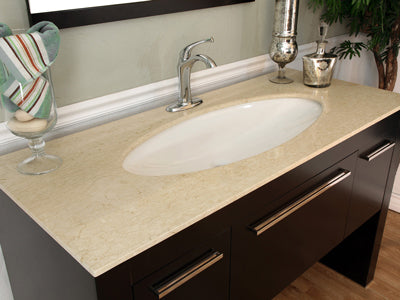 Modern Vanity with Cream Marble Top