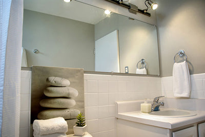 White Subway Tile in the Bathroom