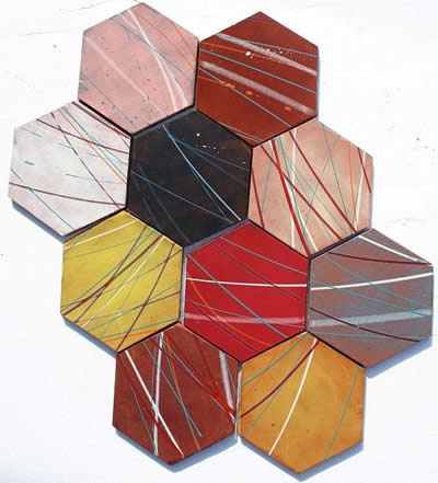 David Shipley Hexagon Ceramic Tile Mural