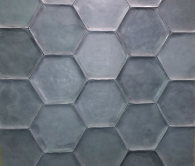 wax finished cement hex