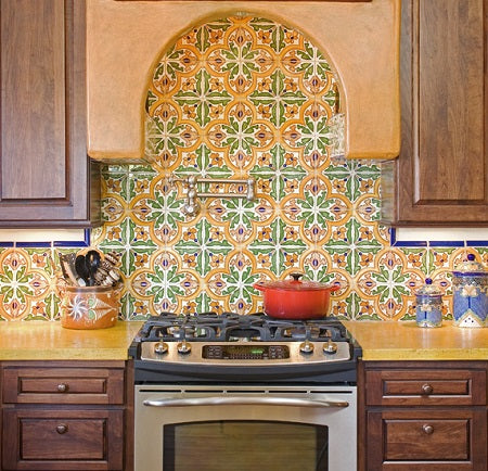 Spanish Tile Patterns from our Barcelona line have a Mediterranean Feel