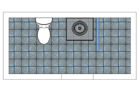Layout and scale are key to determining if a pattern works in a space