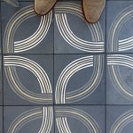 A cement tile floor is used on that patio at the Bluewater Grill in Redond Beach California