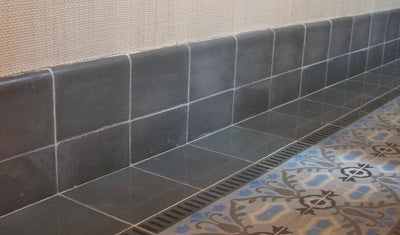 Cement Tile Base Trim Installation with High Toe-Kick