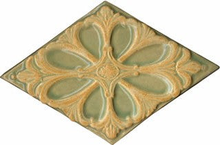 Sculptural Relief Tile - Diamond Medallion in Appalachian Spring Glaze