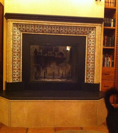 Spanish Albacete Tiles on Fireplace