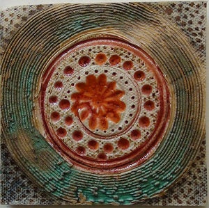 Inner Piece Rippling Water Handpainted Tile