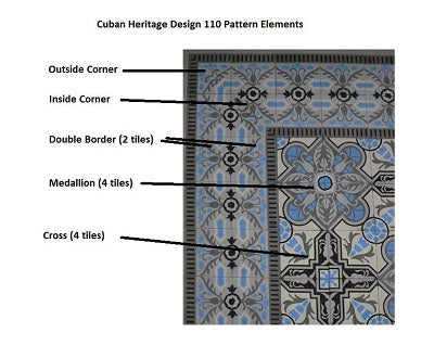 Cuban Heritage Design 110 Pattern Elements