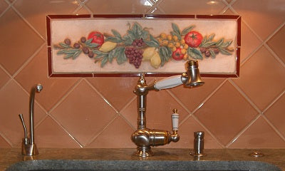Fruit and Vegetable Tile Mural for Kitchen Backsplash