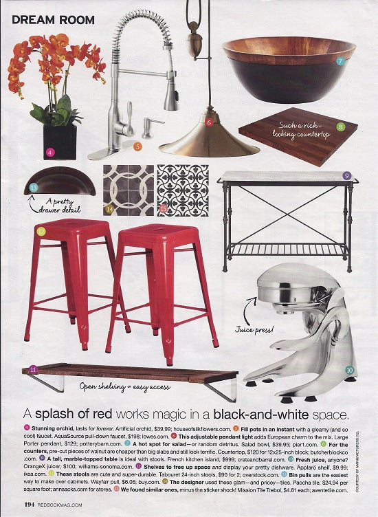 Redbook Magazine: 1 dream kitchen 15 real idea