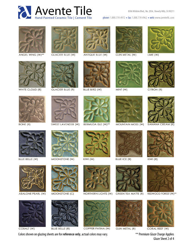 Sculptural Relief Tile Glaze Colors - page 2 of 4