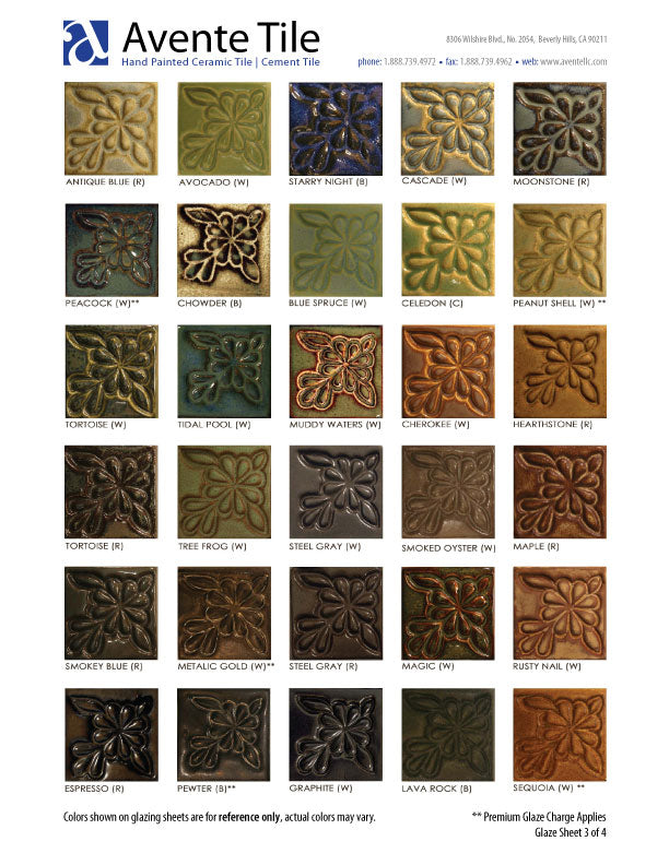 Sculptural Relief Tile Glaze Colors - page 3 of 4
