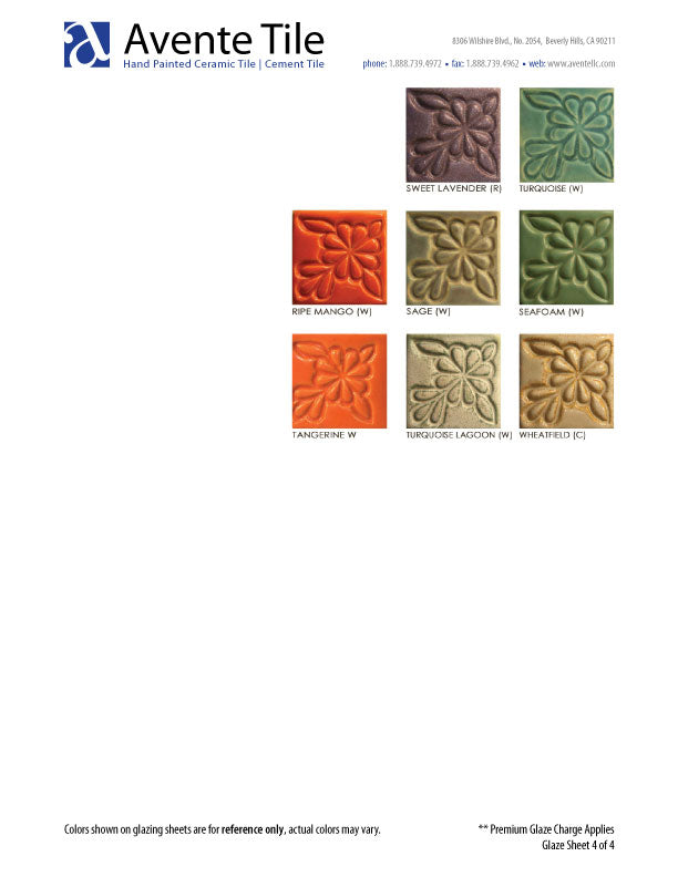 Sculptural Relief Tile Glaze Colors - page 4 of 4