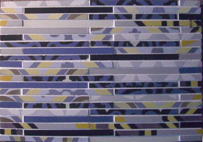 Fragments - Cement Tile Mosaics for Accent.  Winter Mosaic Bar