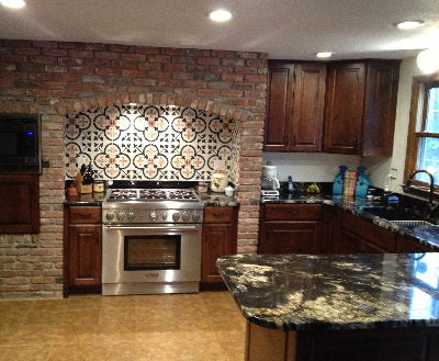 Mark and Erin's Remodeled Kitchen featuring Avente's Cement Tile