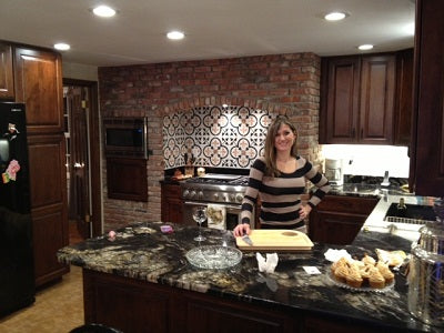 Erin enjoying her new Kitchen