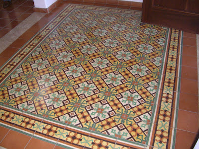 A Cement Tile Rug Design Installation