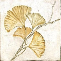 Gingko Leaf Imprint Ceramic Tile
