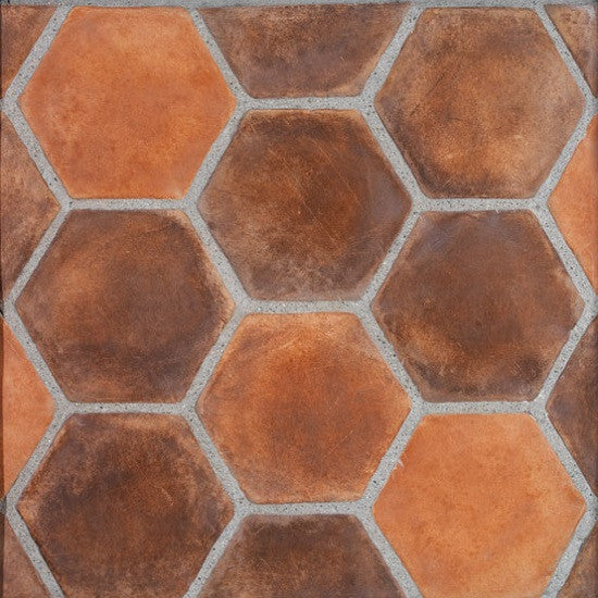 60inch Hexagon in Spanish Cotto Blend