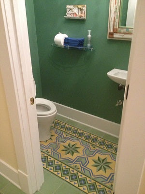 Gran Cordoba Cement Tile in Bathroom