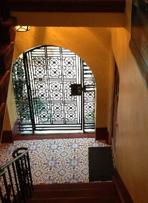 Cuban tiles look great with in the entry of this 1902's Spanish style home