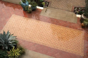 A Cement Tile Patio Rug for All Seasons