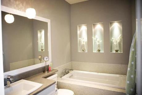 Ambient Lighting Recessed in the Wall. Courtesy © Alair Homes