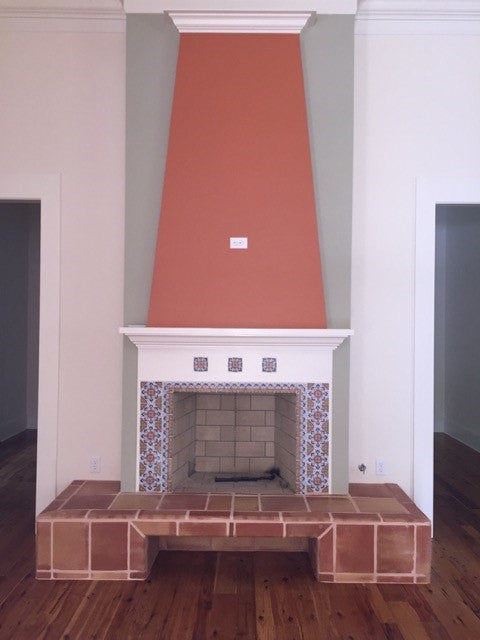 Fireplace with Spanish Andalucia