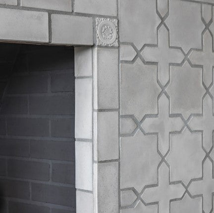 A contempoary look can be achieved with Rustic and Arabesque Cement tiles in neetral colors