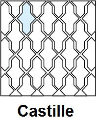 Arabesque Castille Layout Line Drawing