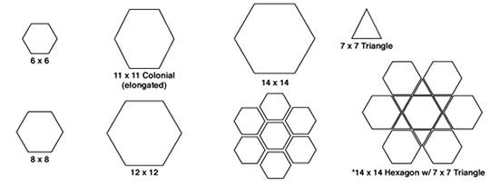 Arabesque Hexagon Formats