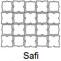 Arabesque Safi Line Drawing and Pattern