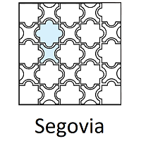 Arabesque Segovia Layout Line Drawing