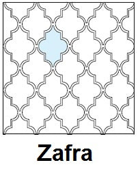 Arabesque Zafra Line Drawing of Pattern