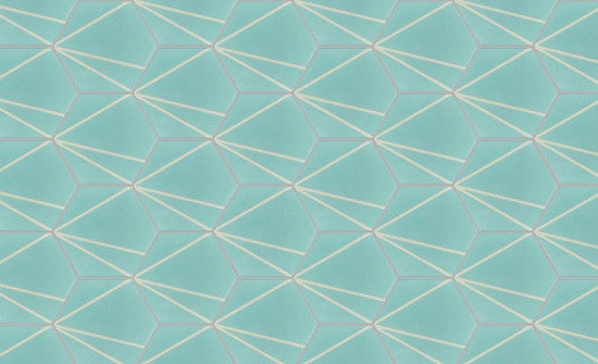 Bakery Hexagonal Cement Tile in Straight Configuration
