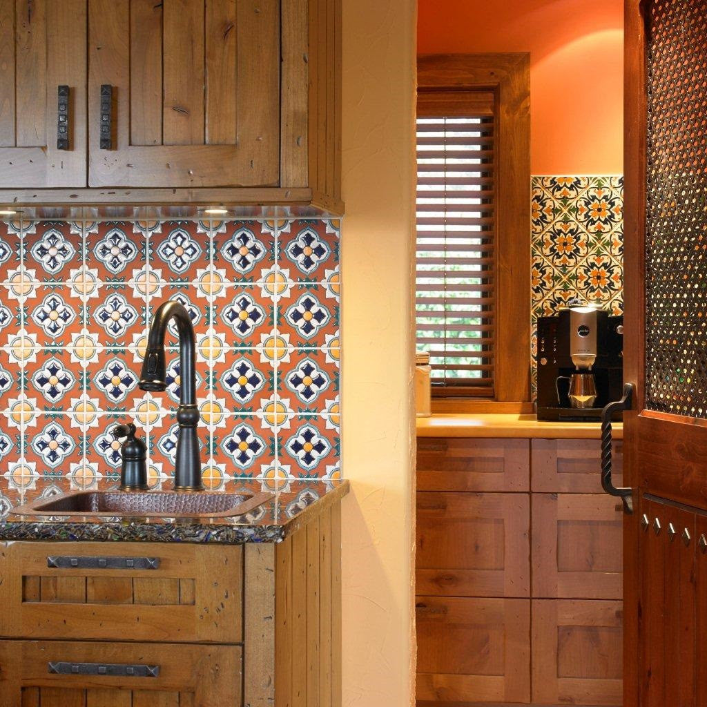 Spanish tiles give sunny disposition to home avente tile barcelona la merced spanish tiles kitchen backsplash dailygadgetfo Gallery