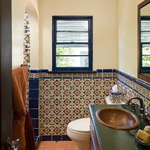 Barcelona Ceramic Tile Adds Mediterranean Feel to Bathroom