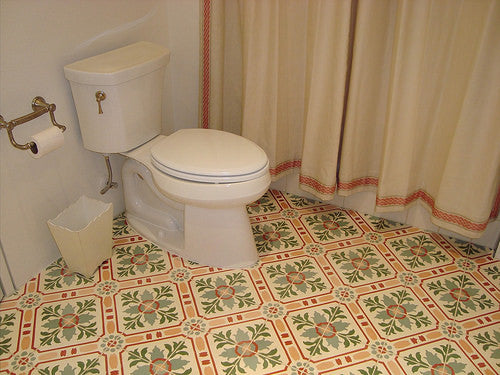 Bathroom with Full Pattern Repeat