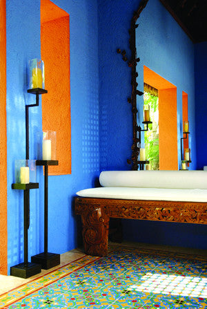 Bold Statements with Colorful Cement Tile