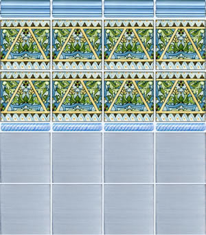 Burgos Spanish Ceramic Tile in Blue