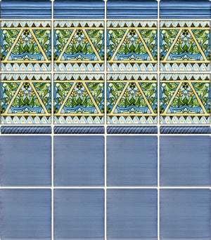 Burgos Spanish Ceramic Tile in Navy