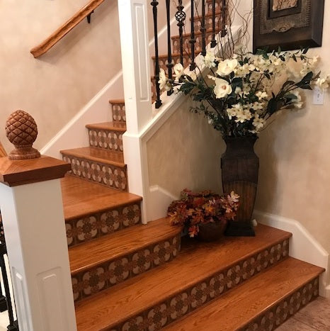 Attractive California San Fernando 6x6 Spanish Tiles On Stair Risers