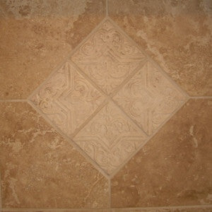 Celtic Moorish Star Tile Adorns Fireplace