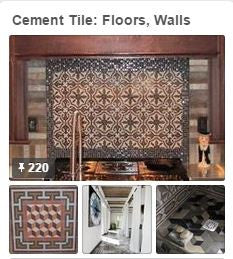 Cement Tile: Floors & Walls